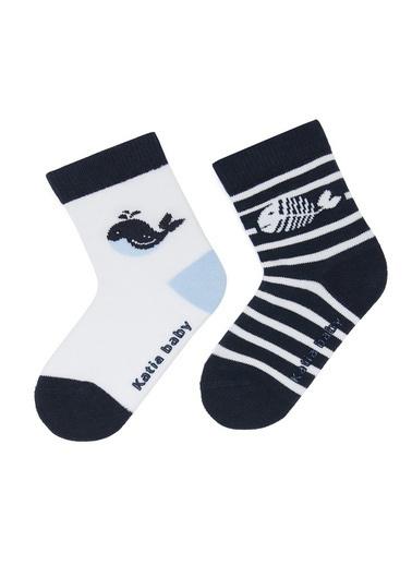 Katia & Bony Balık Desenli Bebek Soket Çorap  Beyaz